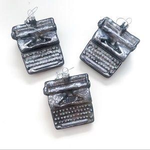 Vintage Style Typewriter Ornament